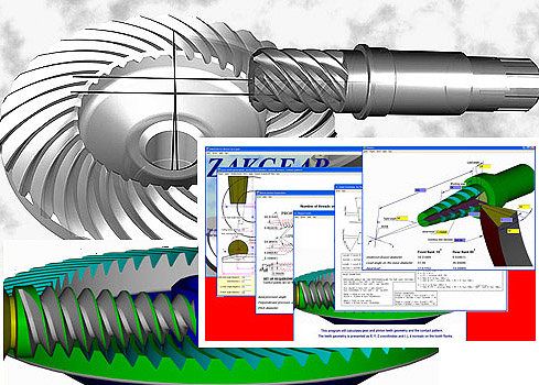 Worm Face gear CAD design and manufacturing software