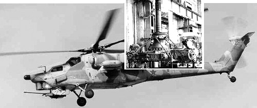 First prototype of MI-28 helicopter gearbox