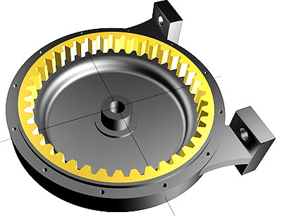 Design concept of a ring gears for a rotary actuator. US Patent 1,730,270.